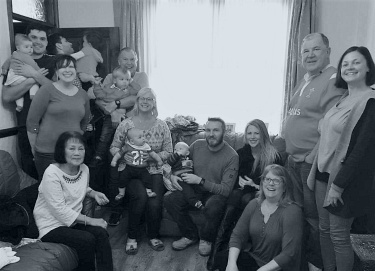 John's extended family in Wales