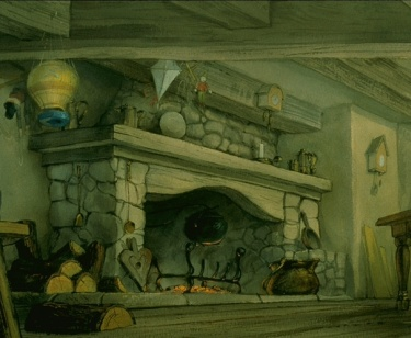 Drawing of the Christmas hearth