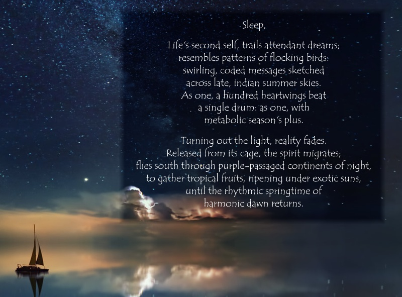 Sleep, a poem
